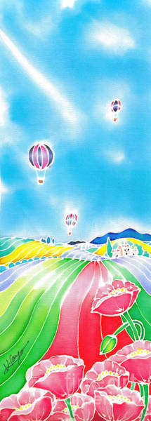 Poster featuring the painting Summer Lights by Hisayo Ohta