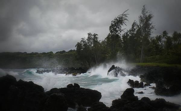 Summer Storm Hana Bay Hawaii Poster