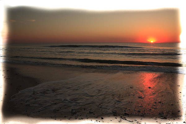 Sun Over The Ocean Poster