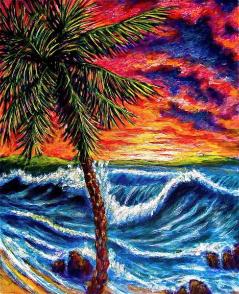 Sun Set Palm Poster