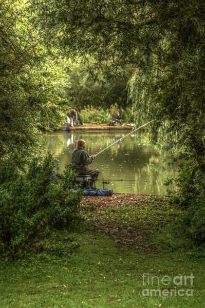 Sunday Fishing At The Lake Poster