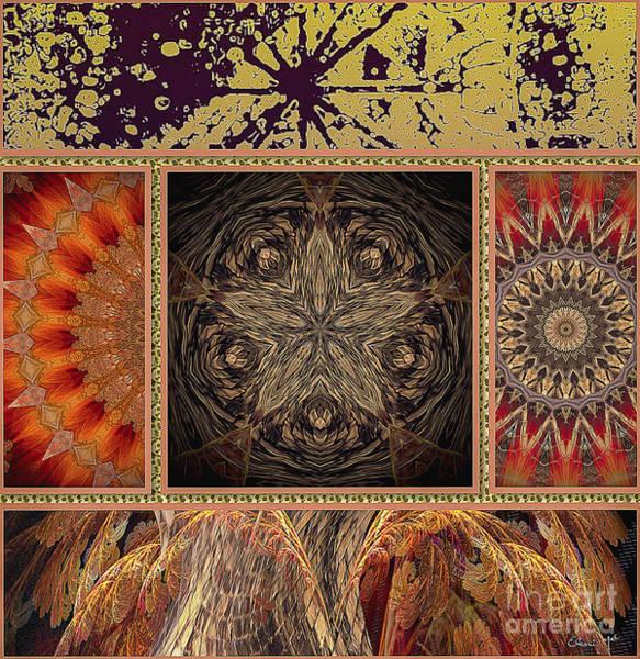 Poster featuring the digital art Sunrays by Eleni Mac Synodinos