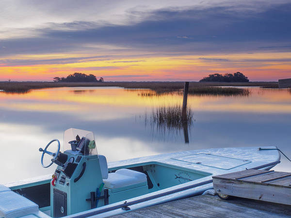 Sunrise Art Photograph - Hells Bay Marquesa Boat By Jo Ann Tomaselli Poster