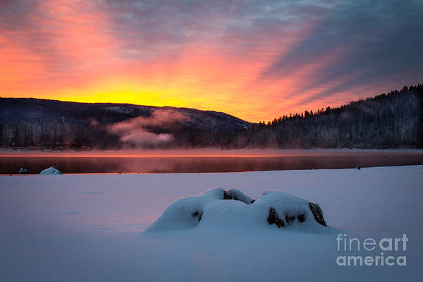 Sunrise At Bass Lake Poster