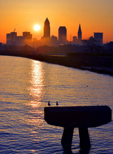 Sunrise From Edgewater Poster