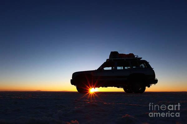 Sunrise On The Salar De Uyuni Poster