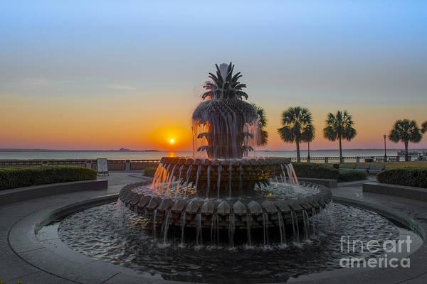 Sunrise Over Charleston Poster