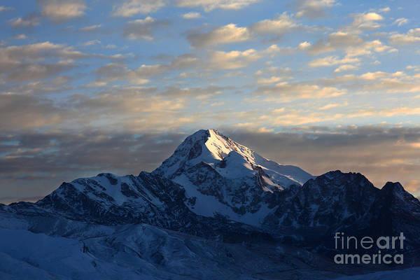Sunrise Over Mt Huayna Potosi Poster