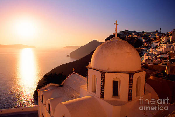 Sunset And Orthodox Church Poster