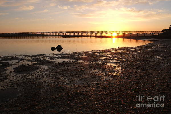 Sunset And Wooden Bridge In Ludo Poster