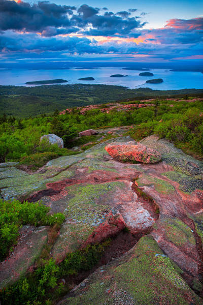 Sunset At Cadillac Mountain Poster