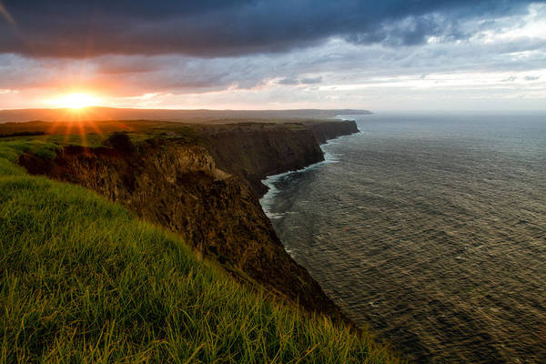 Sunset At The Cliffs Poster