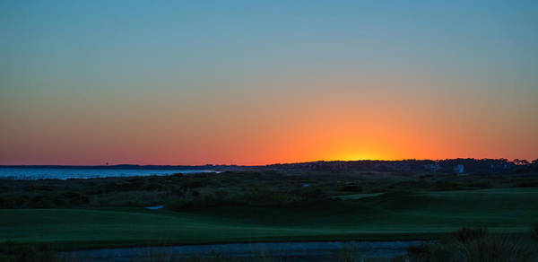 Sunset At The Ocean Course Poster