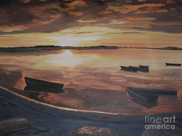 Sunset Evening Tide Poster