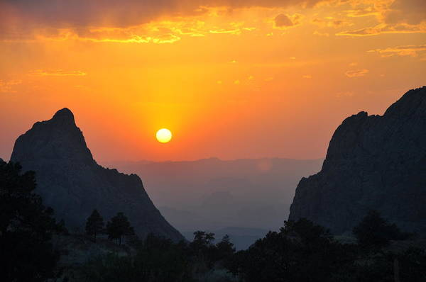 Sunset In Big Bend National Park Poster