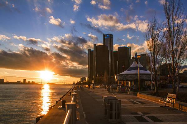 Sunset In Detroit  Poster