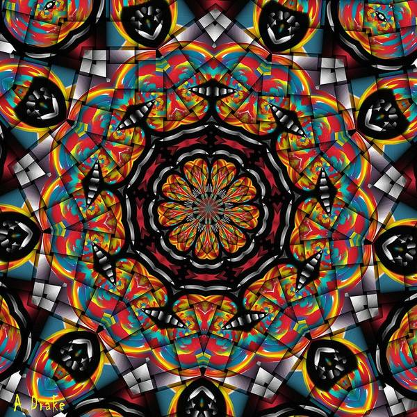 Sunset K 88 Kaleidoscope Poster
