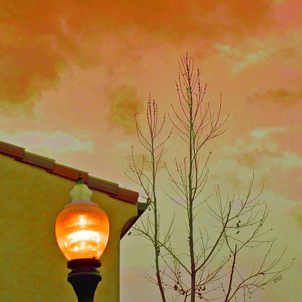 Sunset Lantern Poster