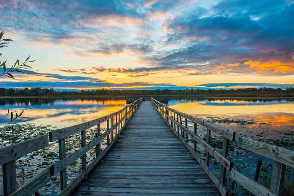Sunset On Lake Sixteen Poster