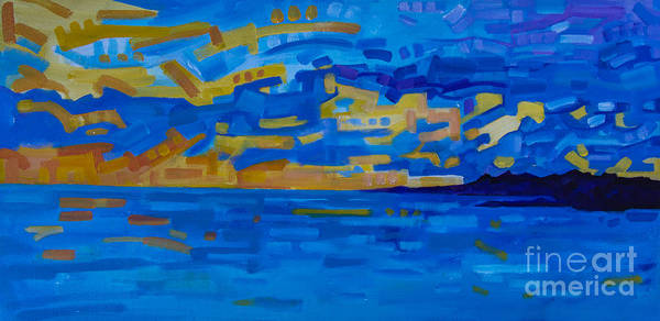 Sunset On Raritan Bay Poster