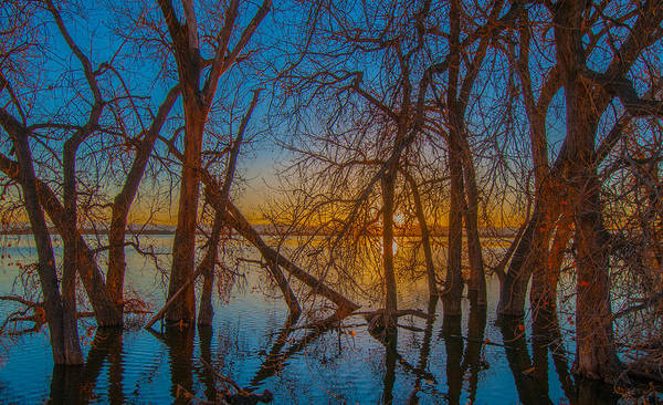Sunset Over Barr Lake_2 Poster