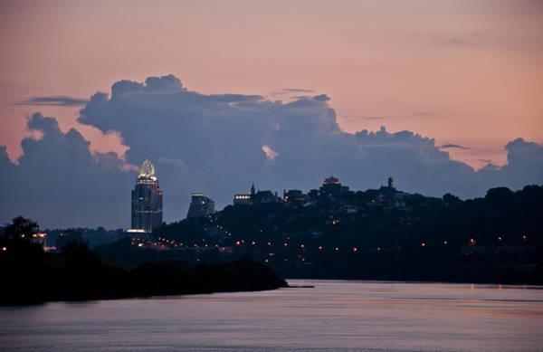 Sunset Over Cincinnati Poster