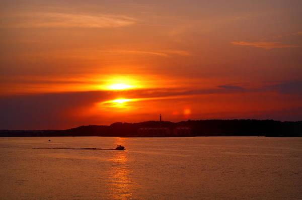 Sunset Over Lake Ozark Poster