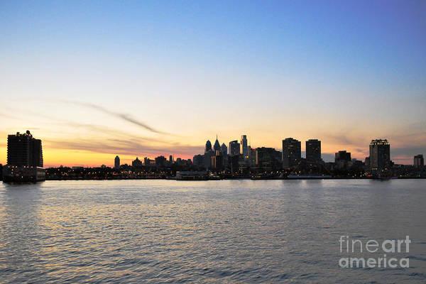 Sunset Over Philadelphia Poster