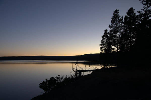 Sunset Over Yellowstone Lake Poster