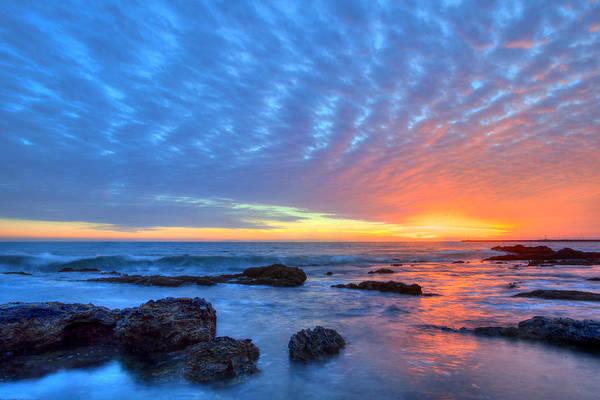 Sunset Reflections Newport Beach Poster