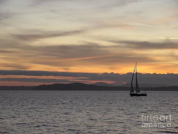 Sunset Sail In Seattle Poster