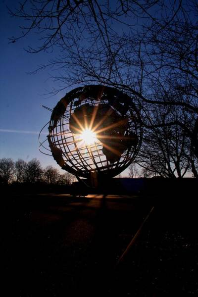 Sunset Through The Unisphere Poster