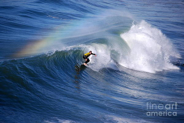 Surfing Under A Rainbow Poster