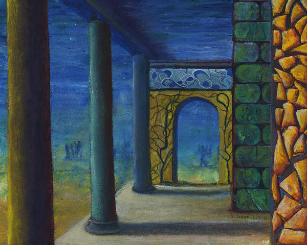 Surreal Art With Walls And Columns Poster
