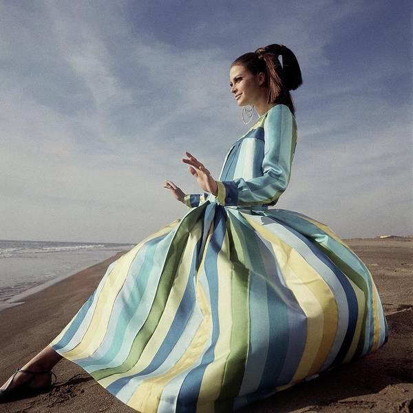Editha Dussler Posing On A Beach Poster