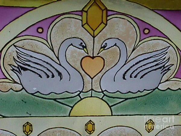 Swan Window Poster