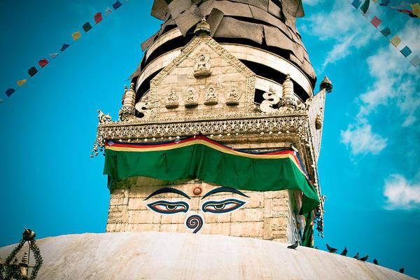 Swayambhunath Stupa In Nepal Poster