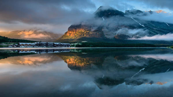 Swiftcurrent Lake Sunrise Poster