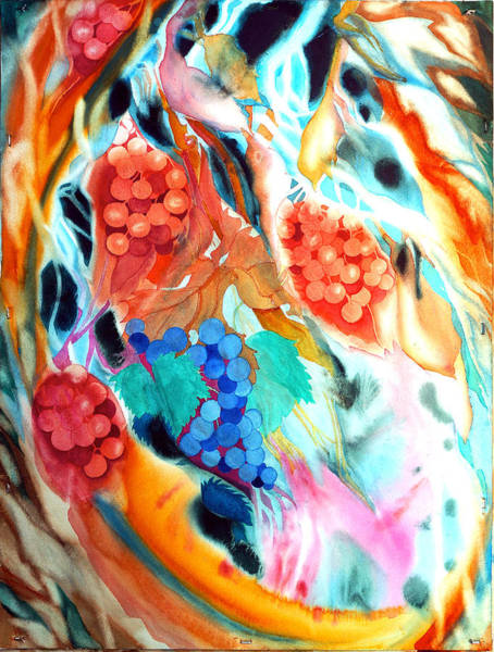 Swirling Grapes Poster