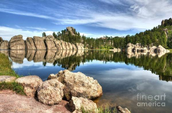 Poster featuring the photograph Sylvan Lake Reflections 2 by Mel Steinhauer