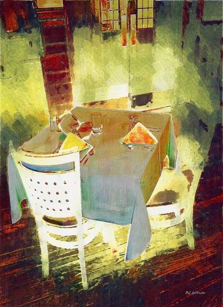 Table At The Fauve Cafe Poster