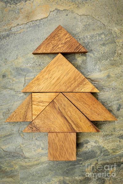 tangram Christmas tree Poster