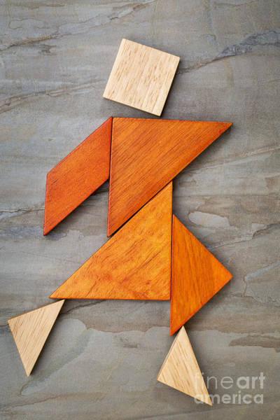 Tangram Dancing Figure Poster