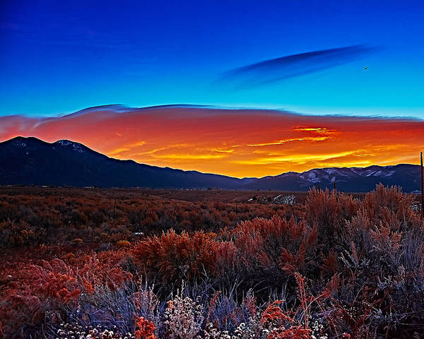 Taos Sunrise X Poster