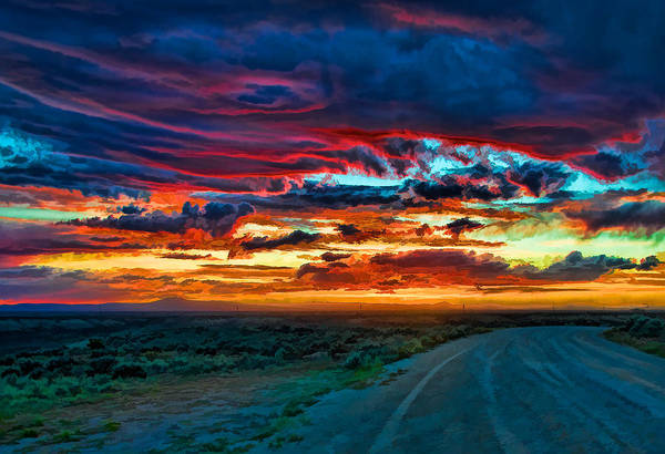 Taos Sunset Iv Poster