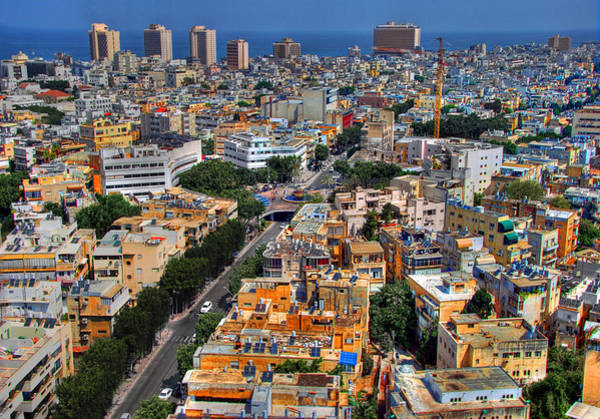 Tel Aviv Eagle Eye View Poster