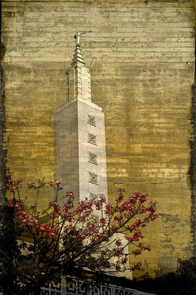 Temple With Red Poster