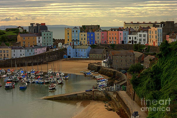 Tenby Harbour In The Morning Poster