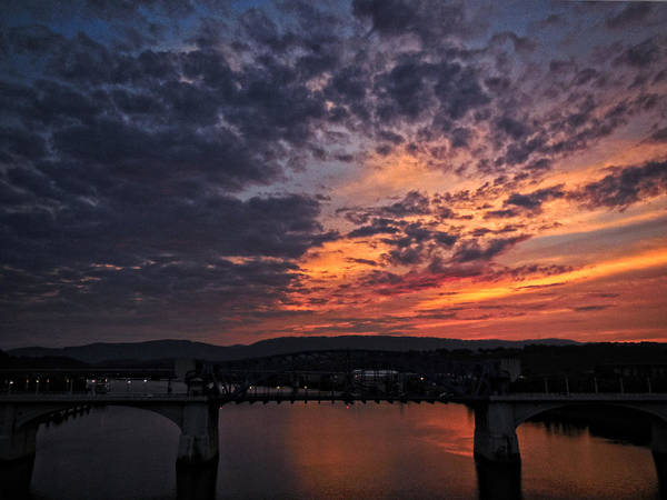 Tennessee River Sunset 2 Poster