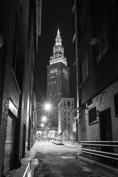 Terminal Tower From A Cleveland Alley Poster